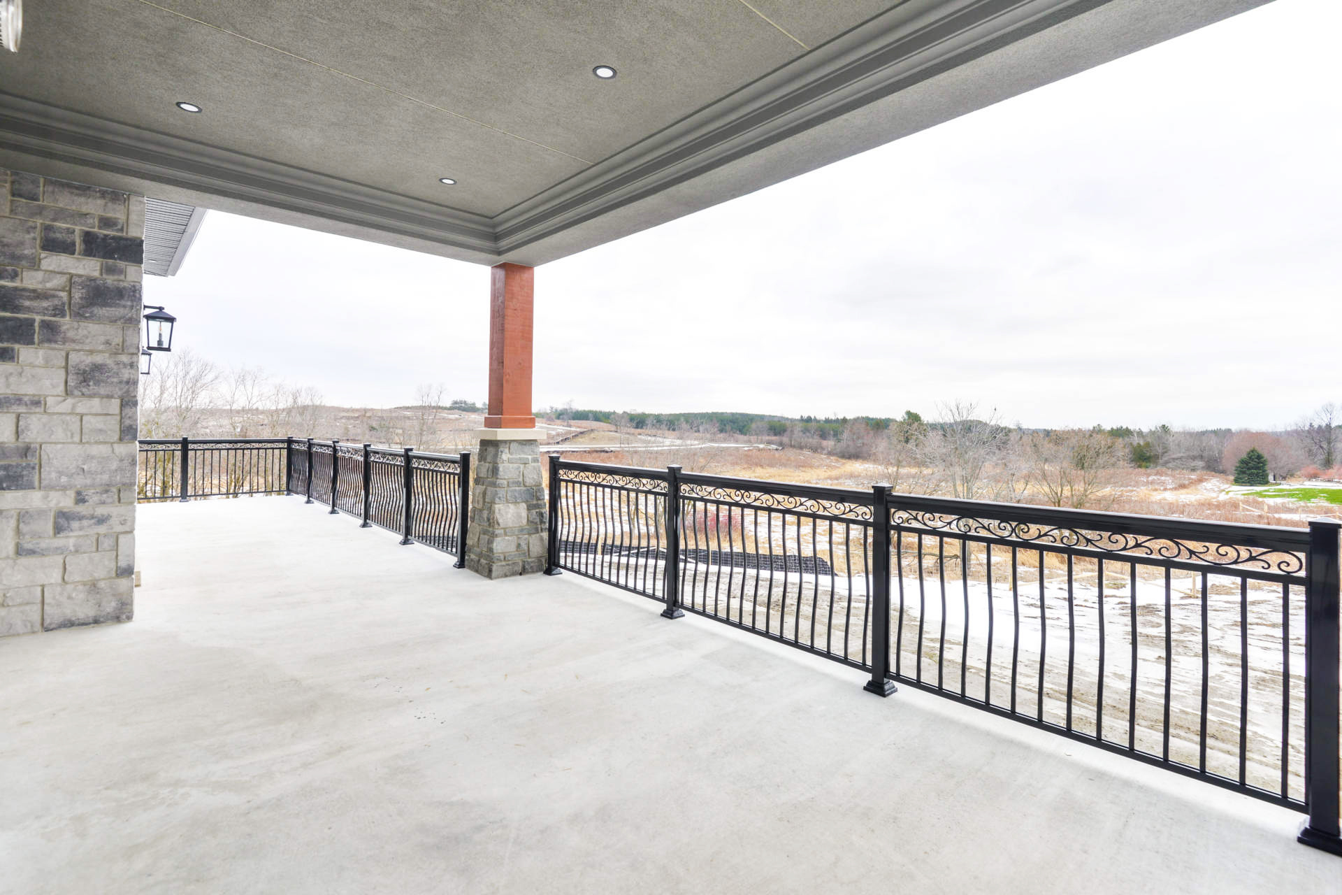 Hall's Lake Estates Luxury Model Home Exterior Balcony