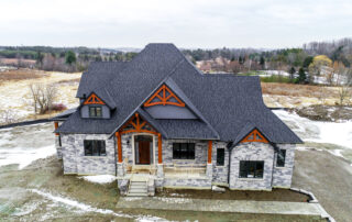 Hall's Lake Estates Luxury Model Home Exterior Traditional inspired architecture
