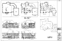 luxury home floor plan Lot 2 in Hall's Lake Estates