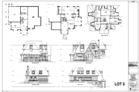 luxury home floor plan Lot 5 in Hall's Lake Estates