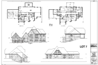 luxury home floor plan Lot 7 in Hall's Lake Estates